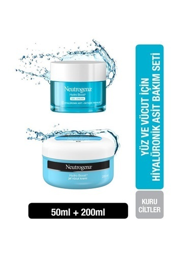 Neutrogena Hydro Boost Gel Cream 50 Ml+Jel Vücut Kremi 200 Ml Renksiz